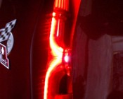 LED Light Strips used to accent car's engine