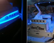 SE-WFLS Waterproof LED Strip in Blue accenting a customer's boat. Thanks Terry C.
