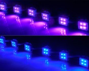 Waterproof LED module string for use in sign applications: UV, Blue