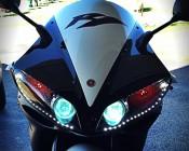 LED Headlight Accent Lights On Customer Motorcycle - Thanks John Z.