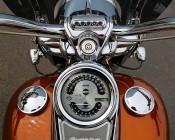 Round 10 Watt LED Mini Auxiliary Work Light- Mounted Rider View