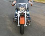 """2"""" Round 10 Watt LED Mini Auxiliary Work Light: Installed On Motorcycle"""