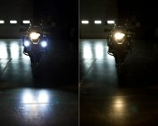 LED auxiliary light installed vs. none