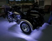 White Weatherproof Light Strips Accent Motorcycle