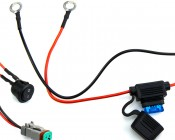 ORB-xW-30 - Included wiring harness with in-line fuse and switch