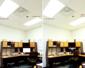 4NFLS-x2160-24V LED Flexible Light Strips (two 4ft strips used) and T8-NW17W-C4F LED Tubes (three tubes used) used in an office lighting application