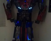 Optimus Prime model using blue and cool white Little Dot LEDs