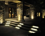 Weatherproof Light Strips Line Stairs