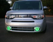 AE series Angel Eye Headlight Accent Lights with diffusers on Customer Vehicle