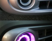 AE series Angel Eye Headlight Accent Lights with diffusers on a Customer Vehicle