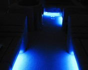 Blue Weatherproof Light Strips Line Inside and Under Boat