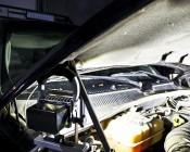 FLPB-CW120-10W - LED Work Light Under the Hood of a Car