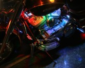 Creative RGB Light Strips Placement and Instillation Can Make Amazing Colors on Your Motorcycle Engine