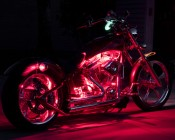 Red Weatherproof Light Strips Accent Motorcycle