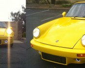 A Customer's DIY LED Daytime Running Light on his Porsche.    These lights allow for a running light to operate as well as air flow to under the hood.
