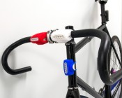 SG-F05 - LED Silicone Bicycle Lights installed on a bicycle