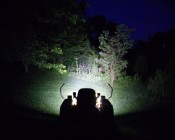"6"" Rectangular 9W Super Duty High Powered LED Work Light: Installed On Lawn Mower"