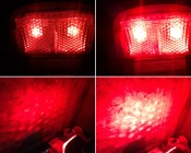 1 x 3 Watt High Power LED Tail/Brake Light installed in a customer's motorcycle.