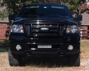 Off Road LED Light Bar Attached To Bottom Of Truck