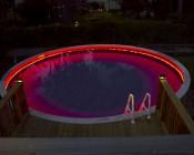 RGB Light Strips Outline Pool