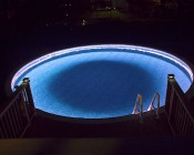 Custom Length LED Waterproof Flexible Light Strip: Installed Outlining Pool