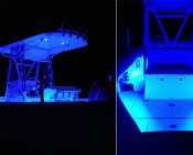 "Waterproof LED Light Bar - 3'3"" Super Flexible LED Bar with 30 SMDs/ft. - 5-mm Through Hole LED: installed in gunwales of this boat.    Thanks for the pictures, Mr. Rogers!"