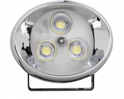 High Power LED Auxiliary Light Kit - Round -Set of Two: Front View