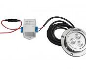 6 Watt Underwater LED Light - Marine Grade 316 Stainless Steel: Connected