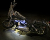 Custom Length LED Waterproof Flexible Light Strip: Installed On Motorcycle