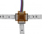 NFLS-4CPT3 Flexible Light Strip 3-Way Pigtail Connector: Used with NFLS-RGB
