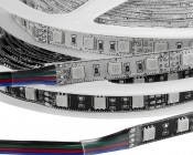 High Power RGB LED Flexible Light Strip - NFLS-RGBx2: Available in White and Black