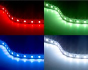 RGB Smart LED Strip Light Kit - 12V LED Tape Light w/ LC4 Connector - 244 Lumens/ft.: On Shot Of NFLS-RGBx2-LC4 Strip