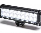 Heavy Duty Off Road LED Light Bar Turned on