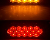 High Brightness Oval Truck Light <br> Red and Amber