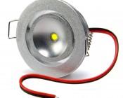 Cool White 1 Watt LED Recessed Light Fixture