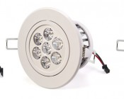 Aimable Recessed Light Fixture Pivots +/-30 degrees on one axis