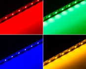 RLBN series Narrow Rigid Light Bar w/1-Chip LEDs available in Red, Green, Blue, and Yellow