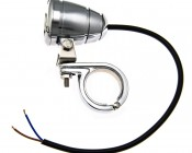 4019 - Kuryakyn Stainless Steel P-Clamp for Bar Mount with Mini AUX Light