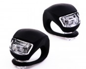SG-F02-BLK - 2 LED Silicone Bicycle Light