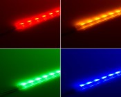 SWFLS-x60 LED Waterproof Flexible Light Strip-side emitting in red, yellow, green, blue