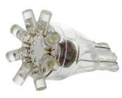 8-LED Miniature Wedge Base LED Tier Light Bulb