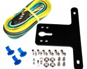 Trailer Light Installation and wiring kit with standard 4-wire flat connector plug