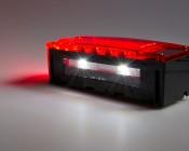 Low Profile Trailer Light Set License Plate Light Illuminated <br> License plate light is located on the bottom of one light