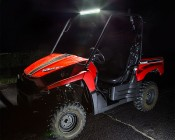 """20"""" Heavy Duty Off Road LED Light Bar - 126W: Attached On Top of UTV"""