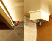 Flexible Light Strips Line Under Cabinets for Accent Lighting- With Dimmer
