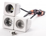 AUX-10W-SxB - Three light modules attached using included mounting hardwares