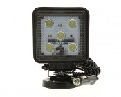 Square 15W Heavy Duty High Powered LED Flood Light with Magnetic Base