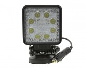 Square 24W Heavy Duty High Powered LED Flood Light with Magnetic Base