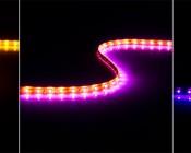 WFLS-x60 Weatherproof High Power LED Flexible Light Strip in Yellow, Pink, UV (blacklight)