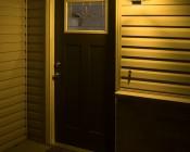 A19 Yellow LED Bug Light Bulb - 95 Watt Equivalent - 940 Lumens: Illuminated Over Front Door Of Home